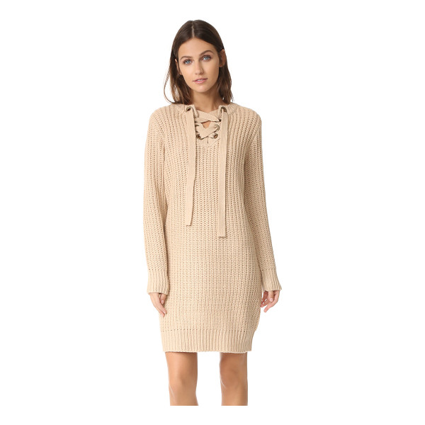 MOON RIVER sweater dress - Chunky knit lends a cozy feel to this simple Moon River...