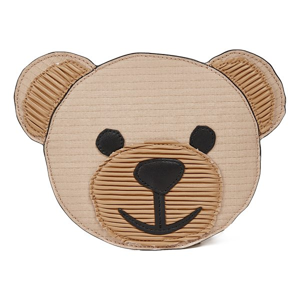 MOSCHINO bear clutch - A slim Moschino clutch in the shape of a teddy bear face....