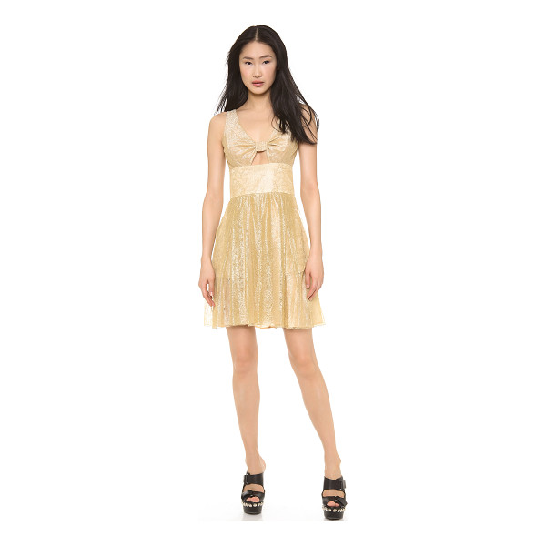 MOSCHINO Cheap and chic lace dress - Delicate metallic lace shimmers across this charming...
