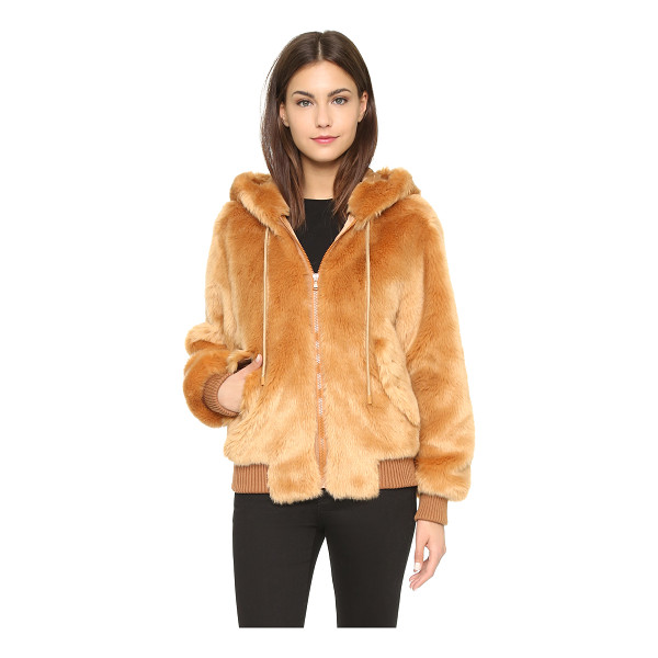MOSCHINO Faux fur jacket - This super soft, faux fur Moschino jacket has an oversized...