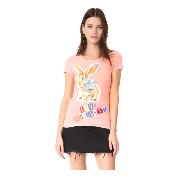MOSCHINO love  rabbit tee - This formfitting Love Moschino tee is detailed with a bunny...