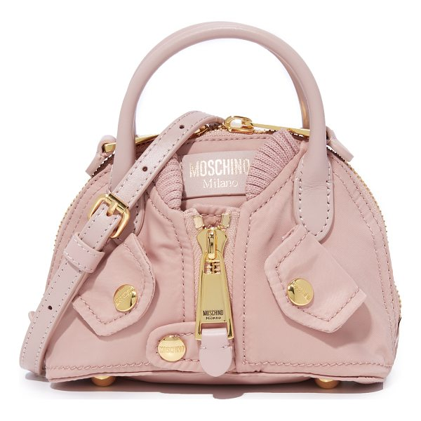 MOSCHINO shoulder bag - A petite Moschino bag shaped to look like a bomber jacket....