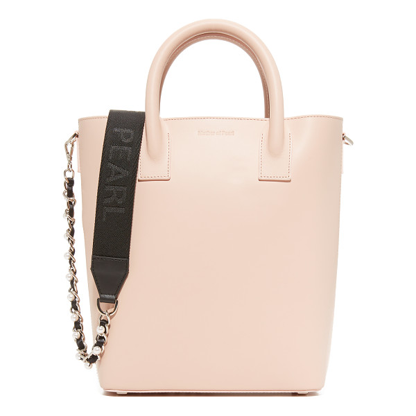 MOTHER OF PEARL hoxton mini tote - A smooth calfskin Mother of Pearl tote with a scaled-down