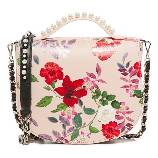 MOTHER OF PEARL winston satchel - A pastel floral print adds feminine style to this...