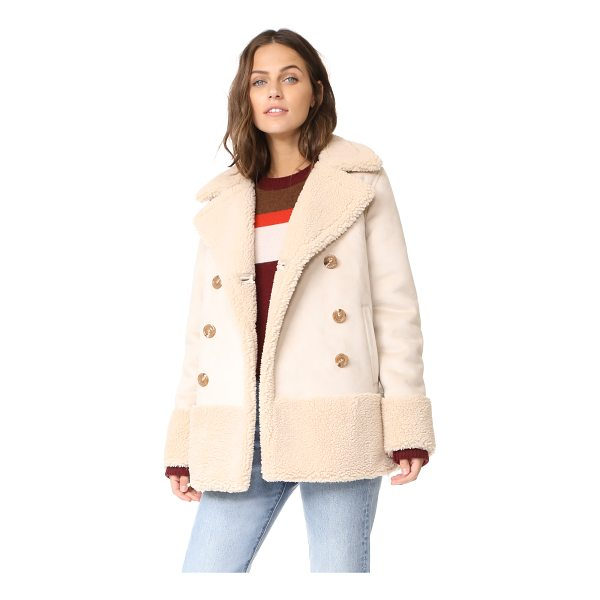 MOTHER sherpa jacket - A double-breasted MOTHER jacket, trimmed and lined with...