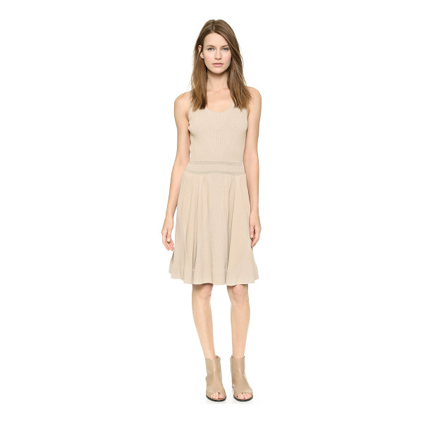 M.PATMOS Engineered knit ballerina dress - Subtle metallic threads accent the ribbed waist of this...