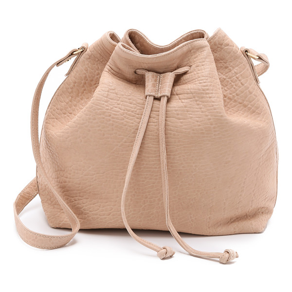 MR. Baker bucket bag - Bubble leather adds luxe texture to this slouchy MR. bucket