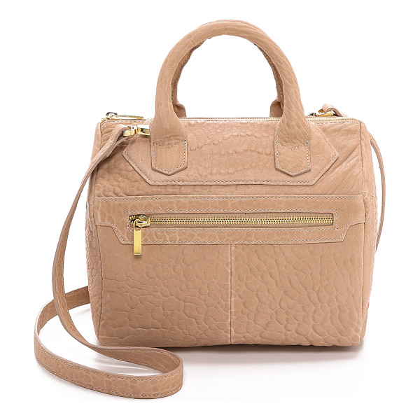 MR. Warner mini satchel - Wrinkled leather brings rich texture to this boxy MR. tote.