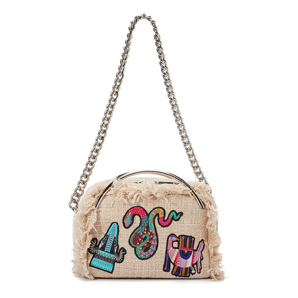 MSGM Chain shoulder bag - Colorful patches and fringe trim lend an exotic touch to