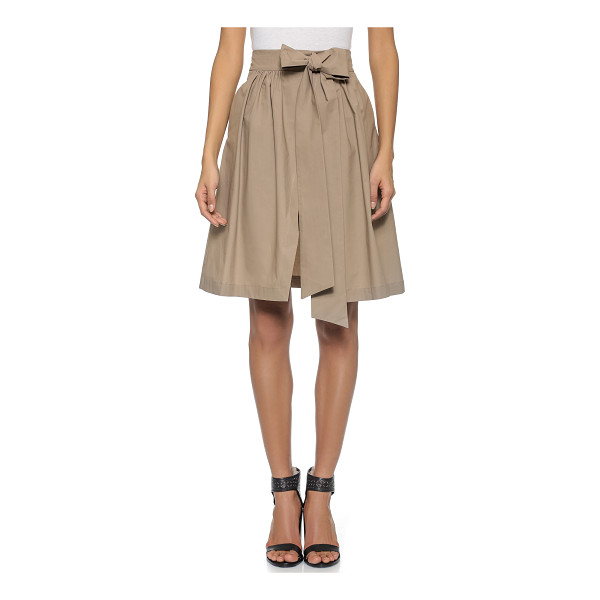 MSGM Cotton wrap skirt - This wrap style MSGM full skirt has an attached self belt...