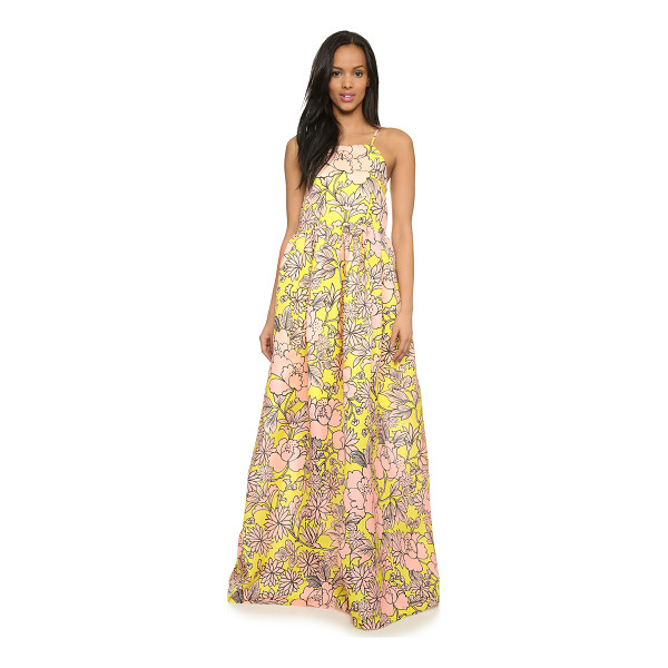 MSGM Floral maxi dress - Ruching brings bold volume to this floral MSGM maxi dress....