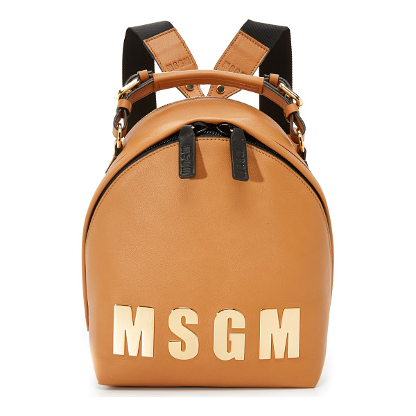 MSGM Logo backpack - Polished 'MSGM' lettering lends a statement making look to