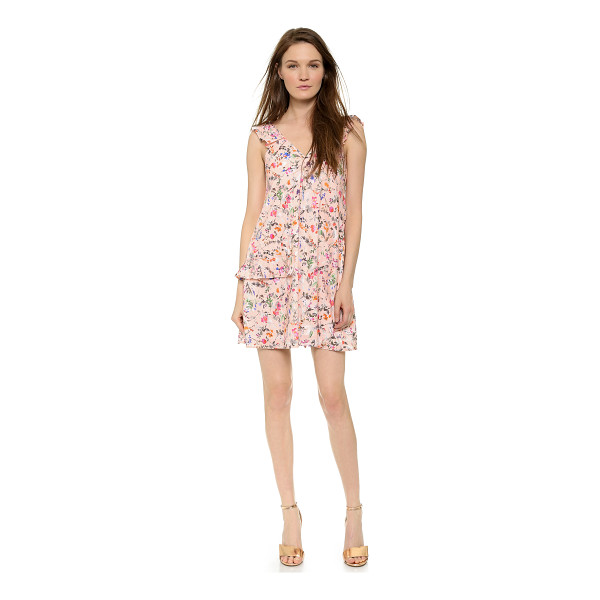 MSGM Sleeveless ruffle dress - Ruffles and a bright floral print bring feminine sweetness...