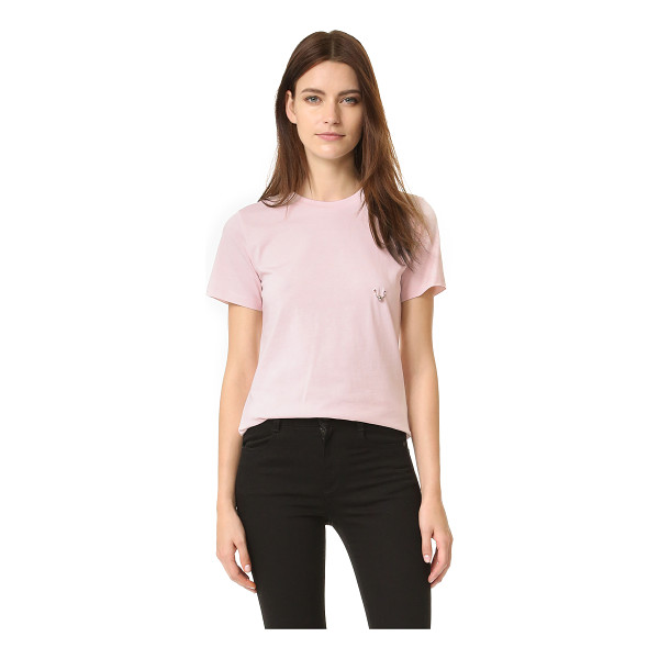 MUGLER Mugler T-Shirt With Hardware - A metal ring adds a touch of edge to this Mugler tee. Crew...