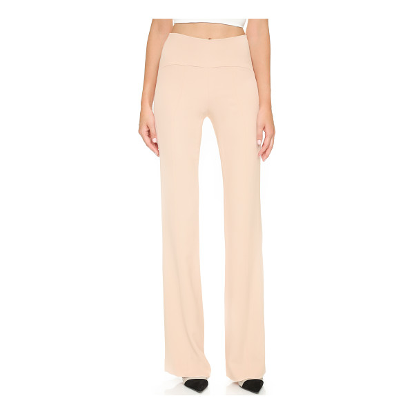 NARCISO RODRIGUEZ High rise pants - A high rise complements the timeless, straight leg profile...