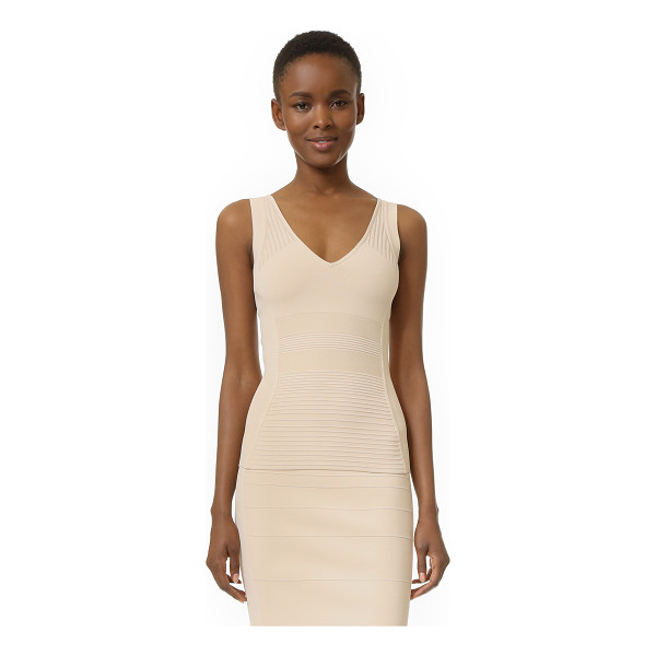 NARCISO RODRIGUEZ knit tank - Raised stitches form tonal patterns on this figure hugging...