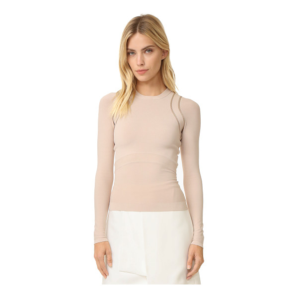 NARCISO RODRIGUEZ long sleeve knit top - A slim, luxe Narciso Rodriguez pullover with a slinky hand....