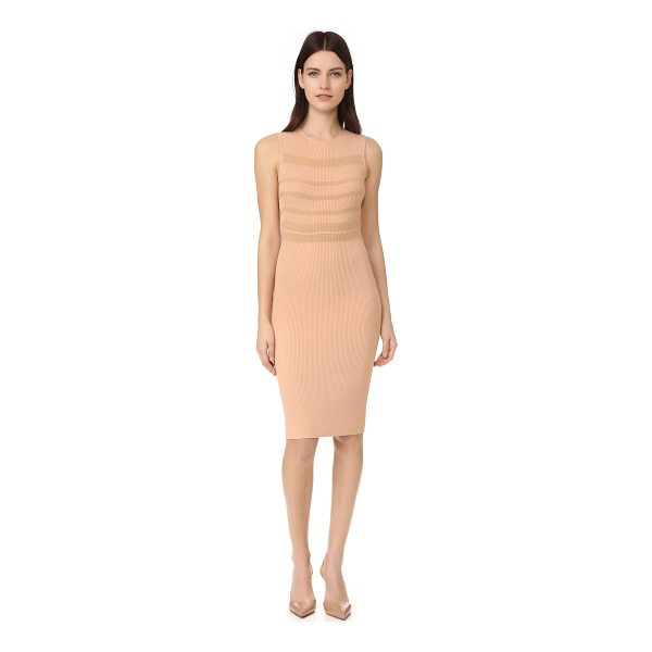 NARCISO RODRIGUEZ sleeveless dress - Rich cashmere stripes bring a touch of pure luxury to this...