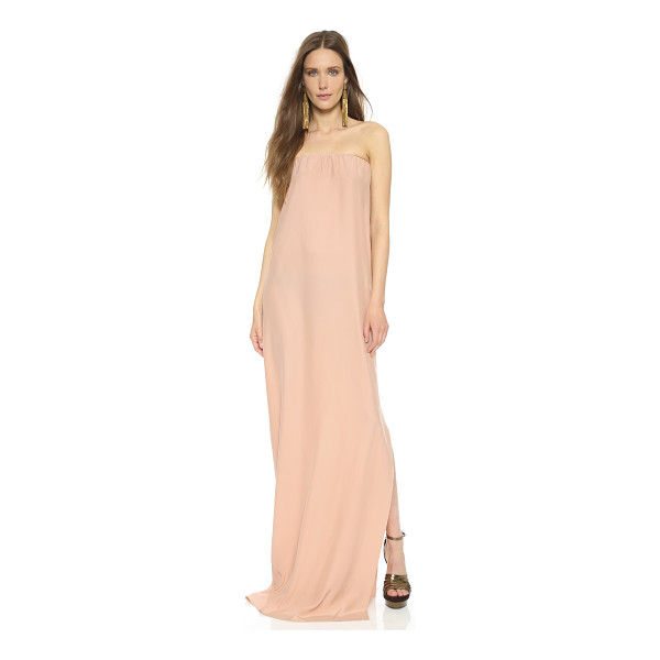NATALIE DEAYALA Strapless column gown - A Natalie Deayala maxi dress cut from luxe silk charmeuse....