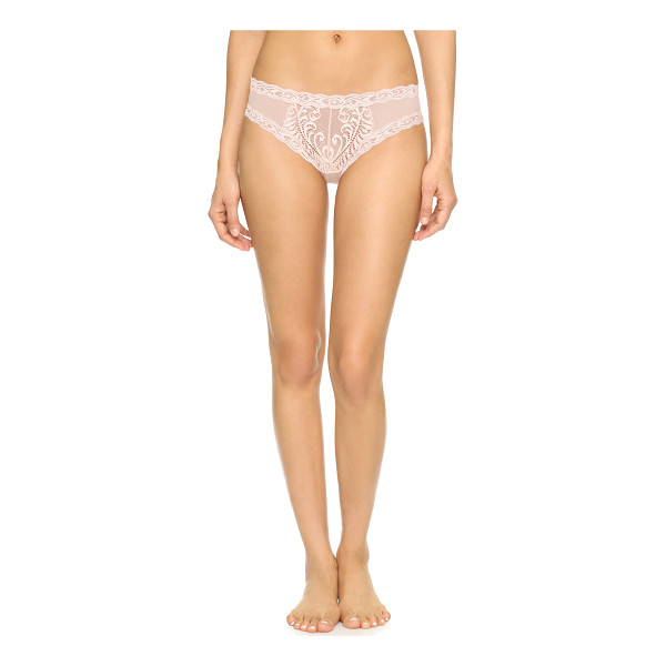 NATORI feathers hipster - Sexy sheer lace Natori briefs. Intricate embroidery details...