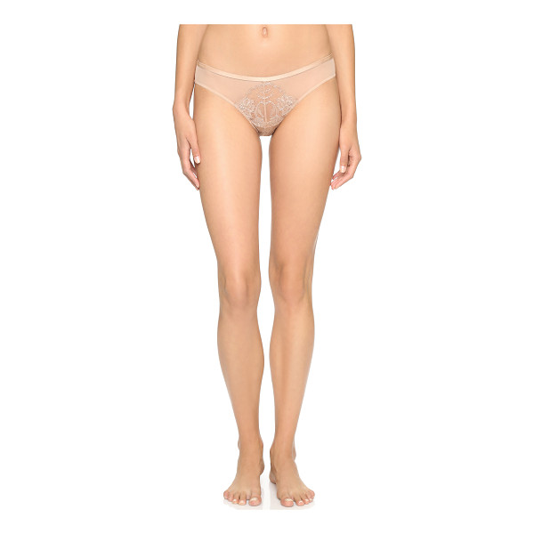 NATORI Josie  chantilly lace bikini briefs - Natori bikini briefs in mesh and chantilly lace. Lined...