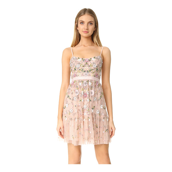 NEEDLE & THREAD blossom tulle dress - NOTE: Sizes listed are UK. A heavily beaded mesh Needle &...