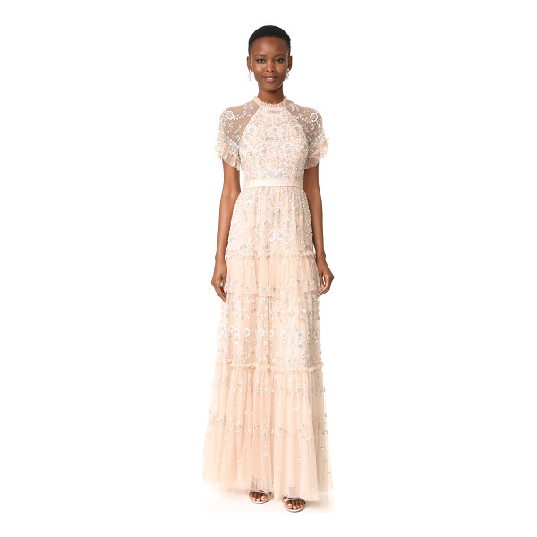 NEEDLE & THREAD constellation lace gown - A sumptuous Needle & Thread gown with intricate beaded...