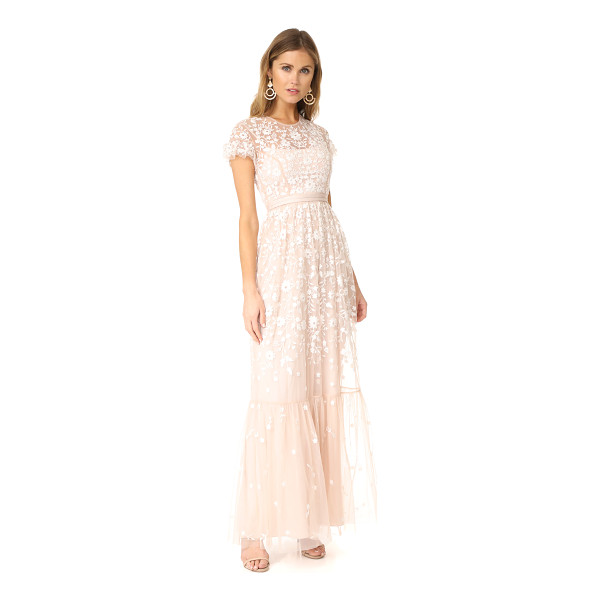 NEEDLE & THREAD tulle meadow gown - NOTE: Runs true to size. Floral embroidery brings graceful,...