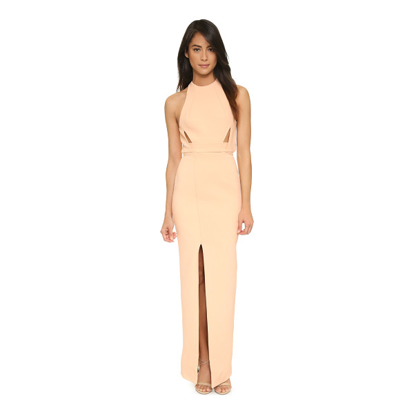 NICHOLAS bandage band insert gown - Thin front cutouts and an open back lend alluring detail to...