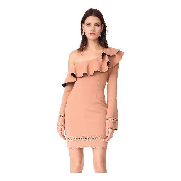 NICHOLAS bandage flounce mini dress - Dense jersey lends smooth, sleek lines to this...