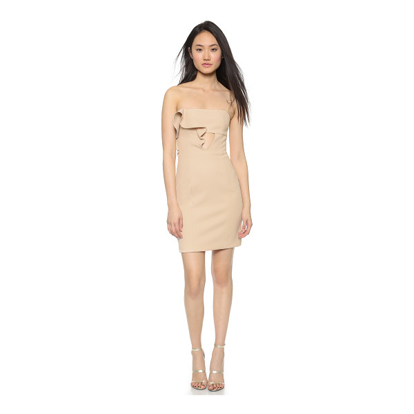 NICHOLAS Bonded crepe ruffle dress - A laser cut ruffle brings sculptural asymmetry to this...