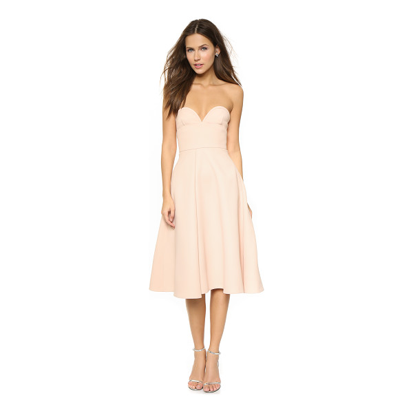 NICHOLAS Double bonded bustier dress - This strapless Nicholas dress has an exaggerated sweetheart...