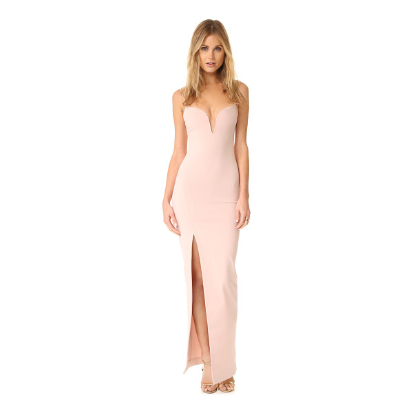 NICHOLAS n /  v wire gown - An asymmetrical slit adds dramatic, sultry detail to this...