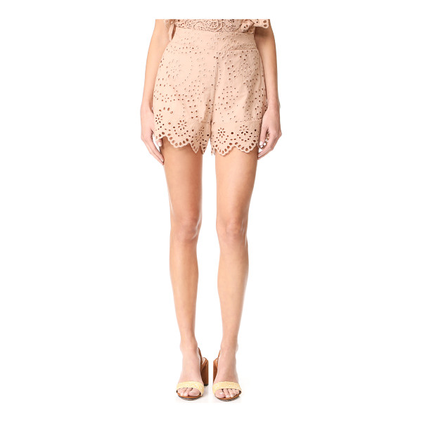 NIGHTCAP X CARISA RENE eyelet ruffle shorts - NOTE: Runs true to size. Please see Size & Fit tab....