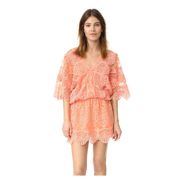 NIGHTCAP X CARISA RENE Seashell mini dress - Embroidered insets accentuate the graceful look of this...