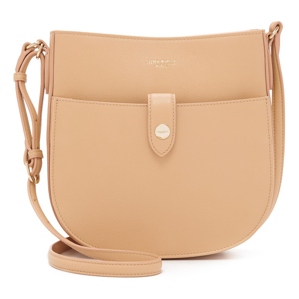 NINA RICCI Cross body saddle bag - A minimalist Nina Ricci saddle bag with a structured...