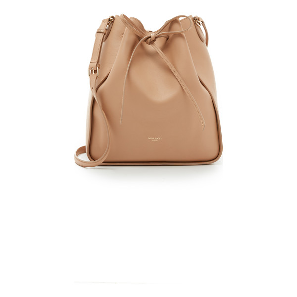NINA RICCI Leather bucket bag - A sophisticated Nina Ricci bucket bag crafted in slouchy...