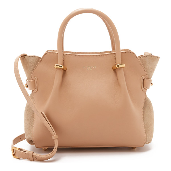 NINA RICCI Leather satchel - Smooth calfskin and rich suede come together on this Nina