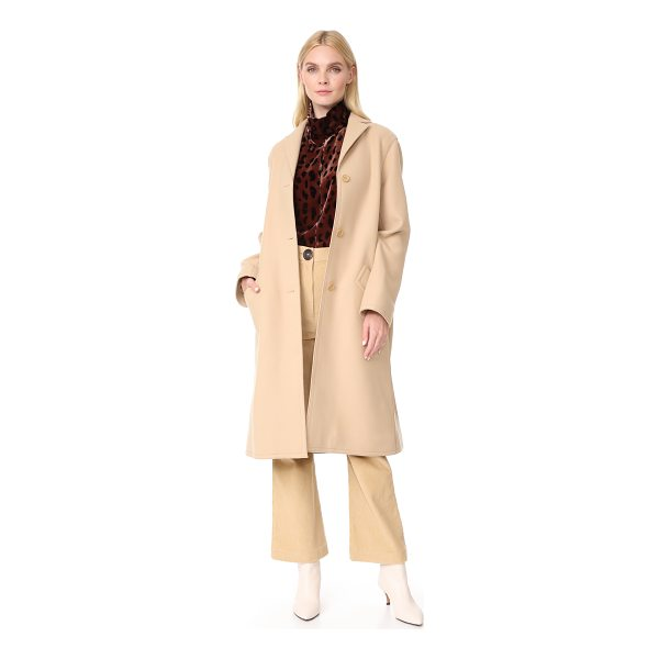 NINA RICCI overcoat - Raised seams add a subtle deconstructed look to this...