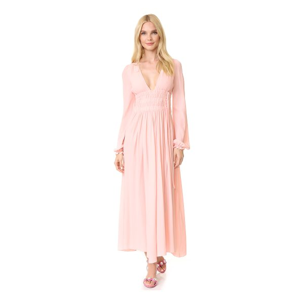 NO. 21 long sleeve gown - A charming No. 21 gown in a fine silk blend. The deep V...