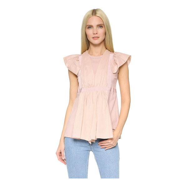NO. 21 Short sleeve top - A charming No. 21 blouse with delicate voile and grosgrain...