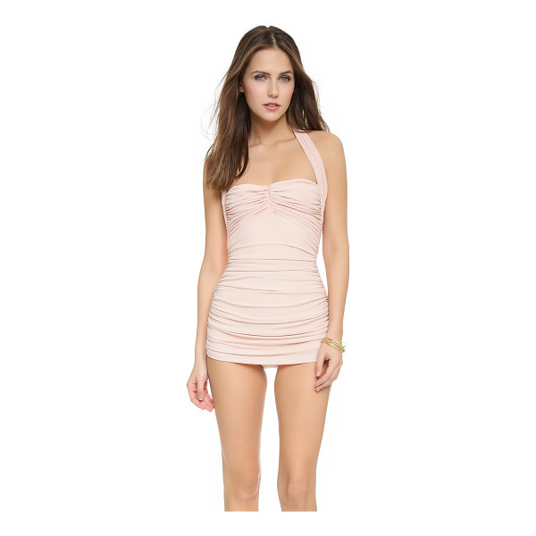 NORMA KAMALI Bill mio swimsuit - Ruching cinches the sides and bodice of this Norma Kamali...