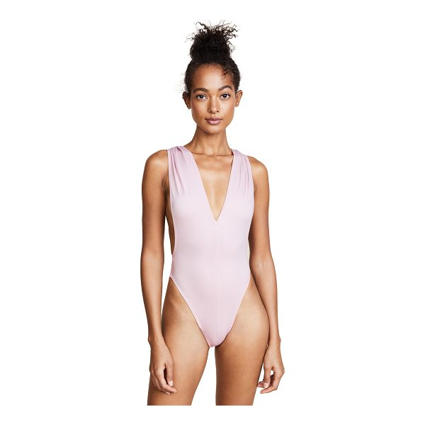 NORMA KAMALI marissa v neck one piece - A Norma Kamali one-piece swimsuit featuring a plunging V...