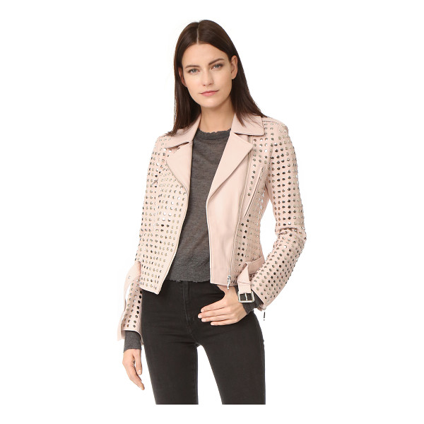 NOUR HAMMOUR schism motorcycle jacket - Allover flat studs add eye-catching edge to this leather...