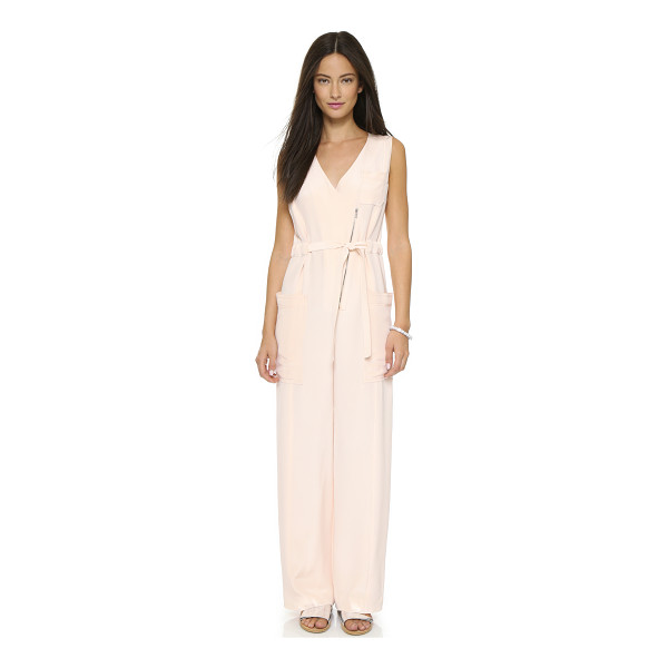 O'2ND Marion jumpsuit - Utility meets luxury on this silk O'2nd jumpsuit. The...