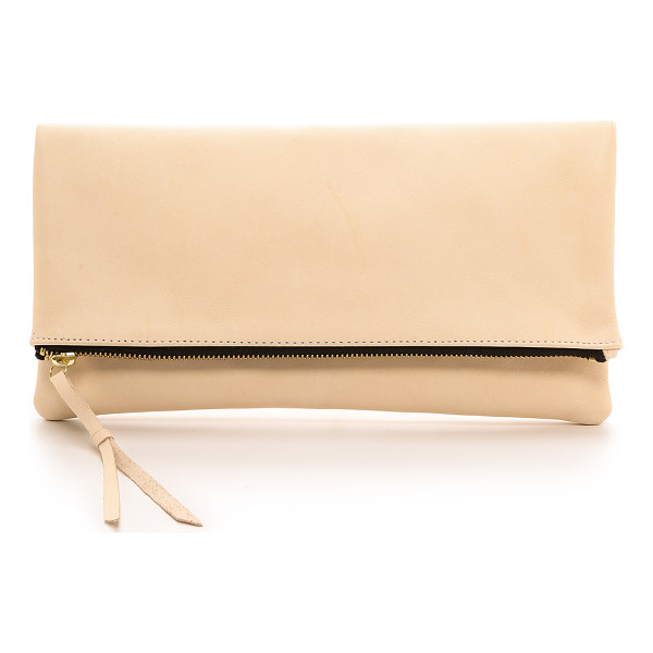 OLIVEVE Anastasia clutch - A fold over Oliveve clutch cut from smooth leather. Zip