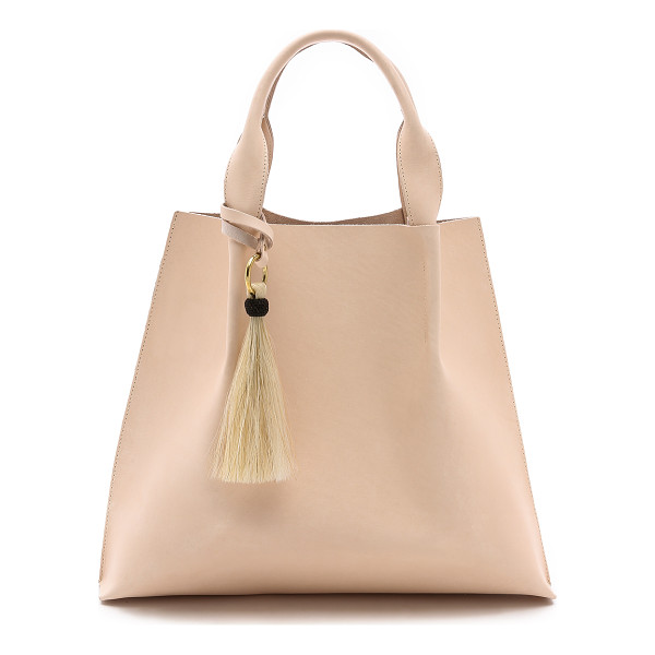 OLIVEVE Maggie tote - Thick, bridle leather brings rigid structure to this