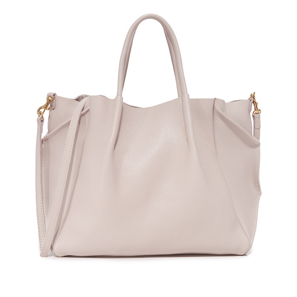 OLIVEVE zoe tote - Folded gussets enhance the slouchy profile of this wrinkled...