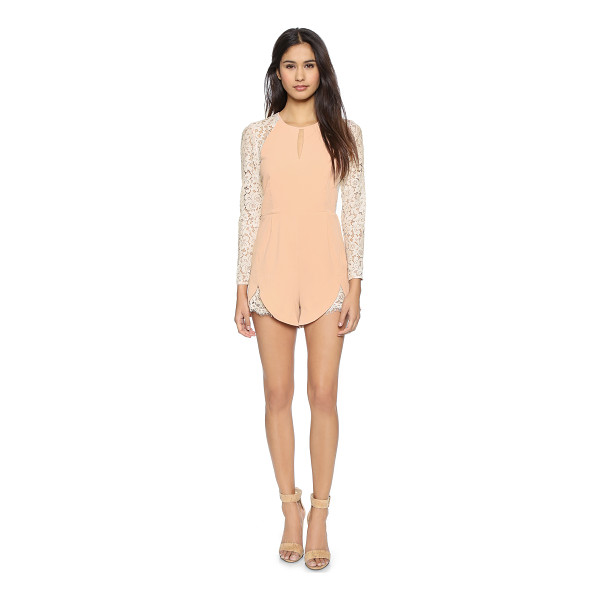 ONE BY HEARTLOOM Tina romper - A feminine romper in tactile crepe with floral lace long...