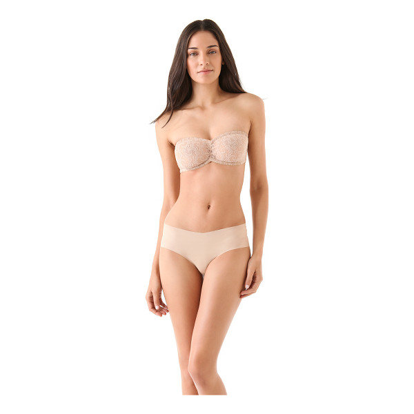ONLY HEARTS Lace bandeau bra - This stretch lace bandeau bra features ruching between the...